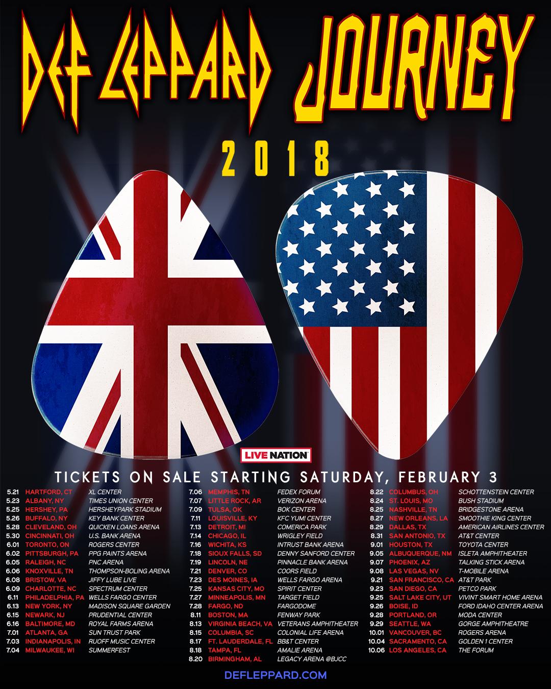 Def Leppard Journey Tour 2020.Tour Def Leppard