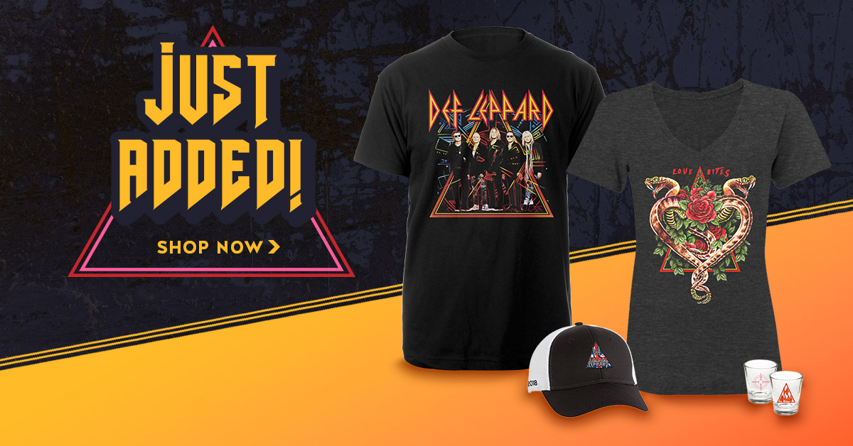 4023bce9 New 2018 Tour Merch Available Now! | Def Leppard