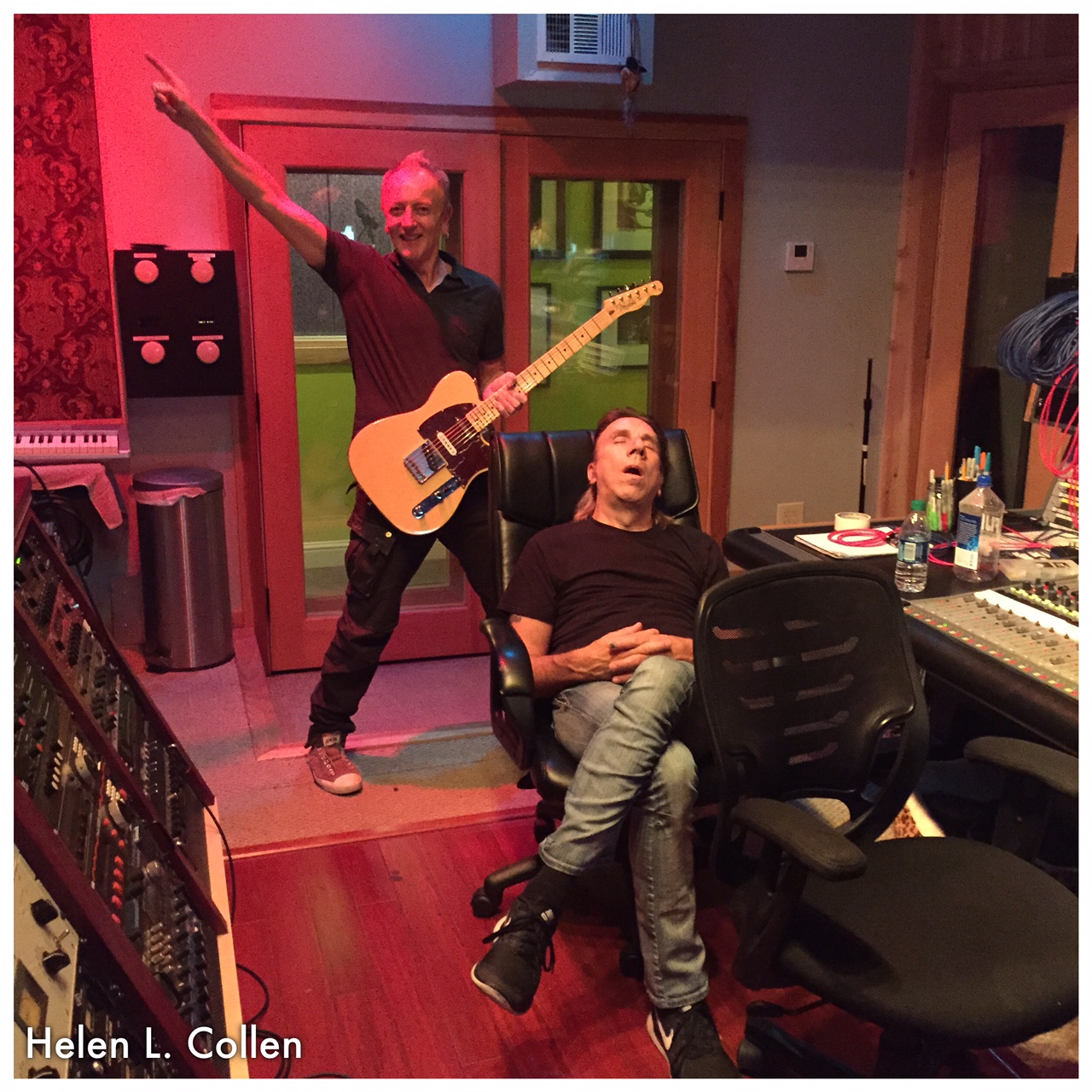 Phil Collen with Tesla june 2016.