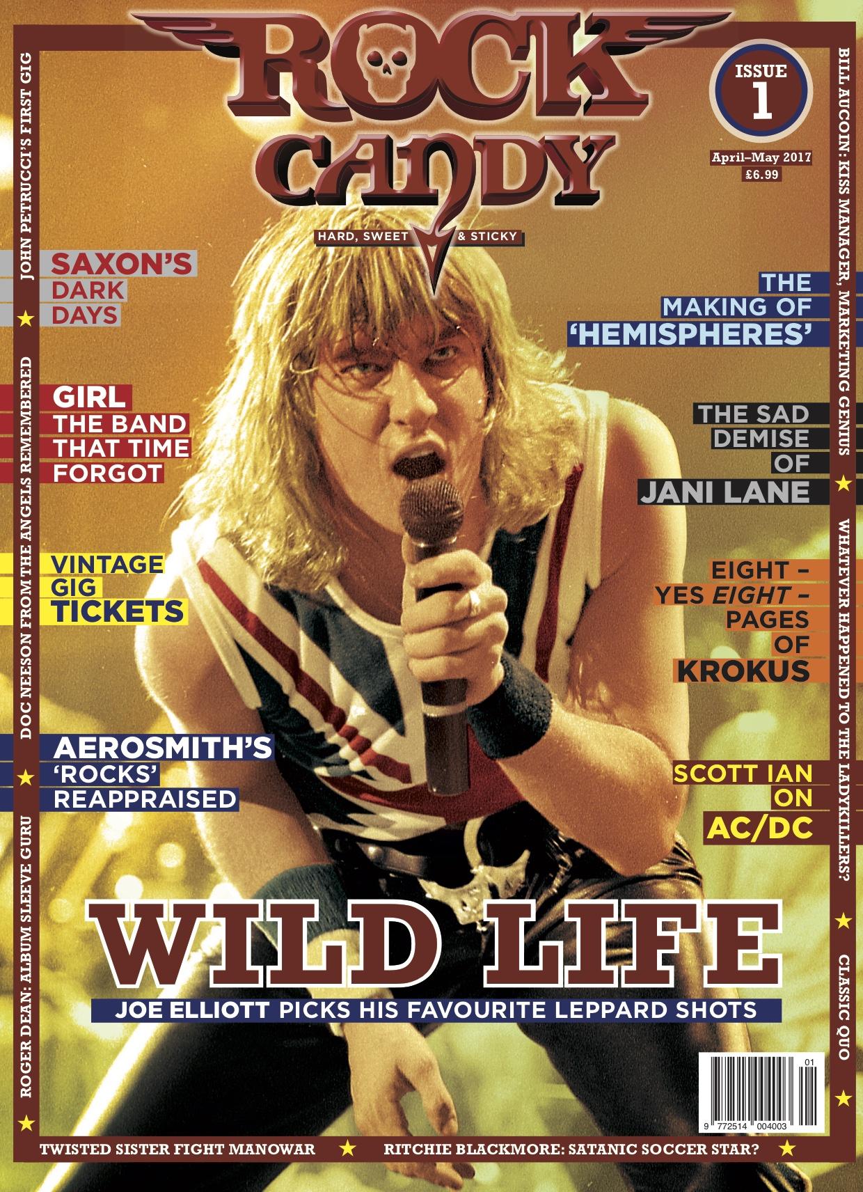 Joe Elliott - Rock Candy Magazine Issue 1 April 2017