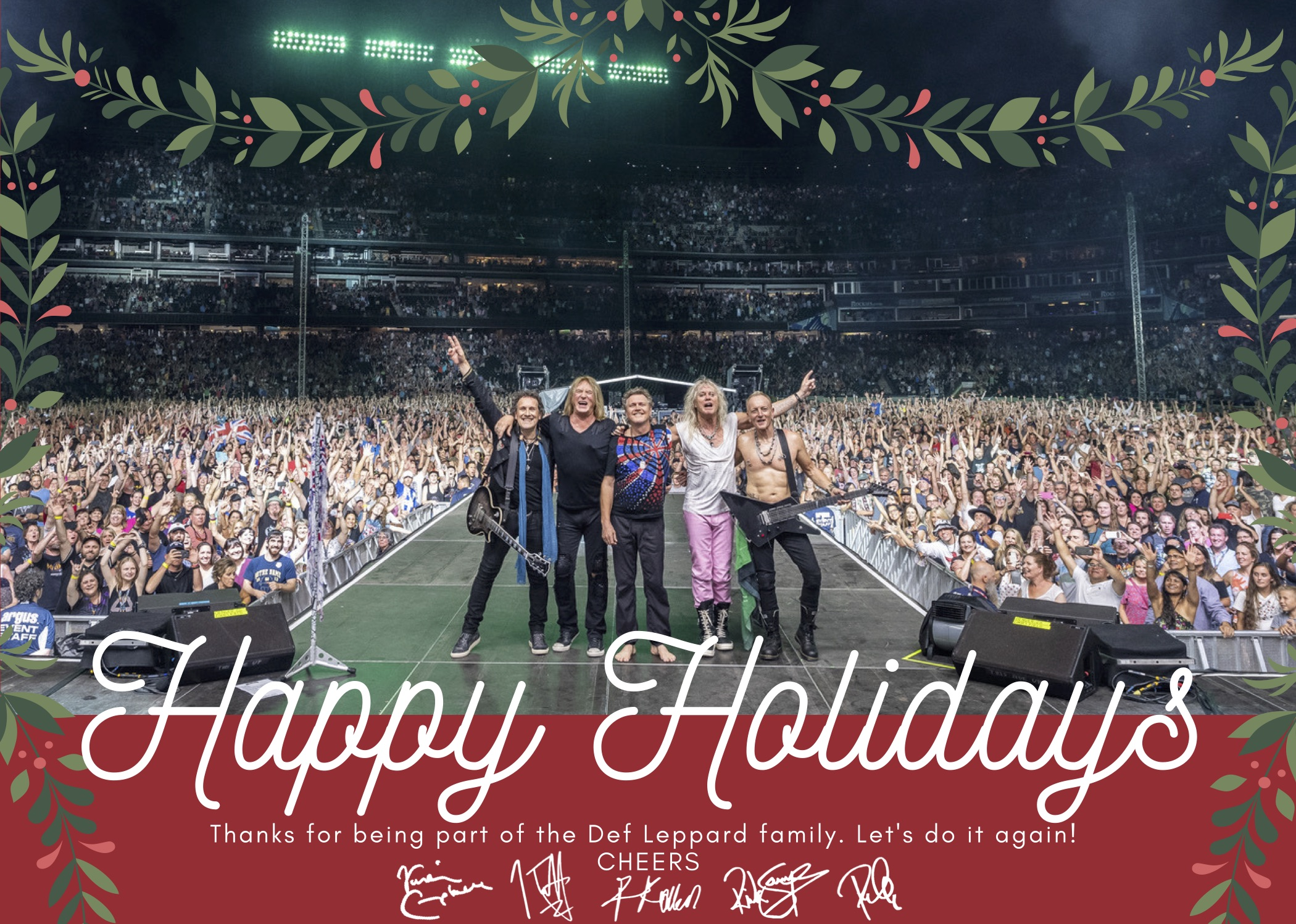 Happy Holidays From The Def Leppard Family Def Leppard
